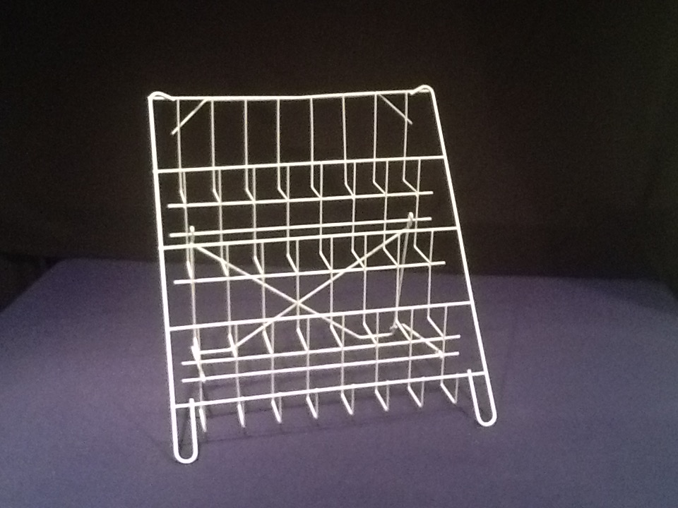 4 shelf table top wire stand