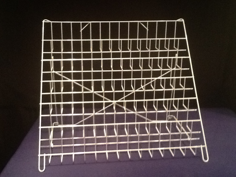 6 shelf table top wire stand